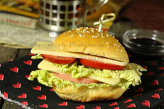 Булочки для гамбургеров как Макдональдсе