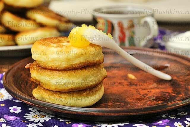 Пышные оладьи на кефире без яиц лучший рецепт с пошагово