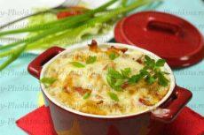 Запеканка из макарон с колбасой и сыром