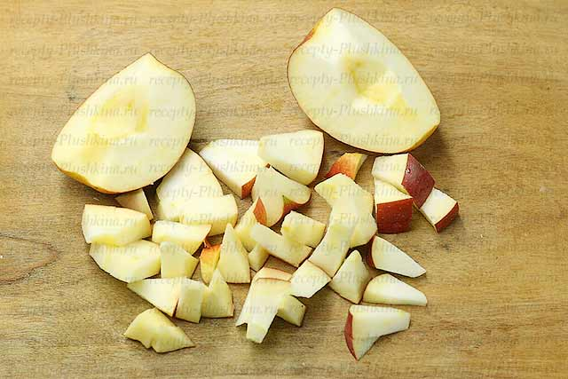 лапшевник с яблоками и макаронами