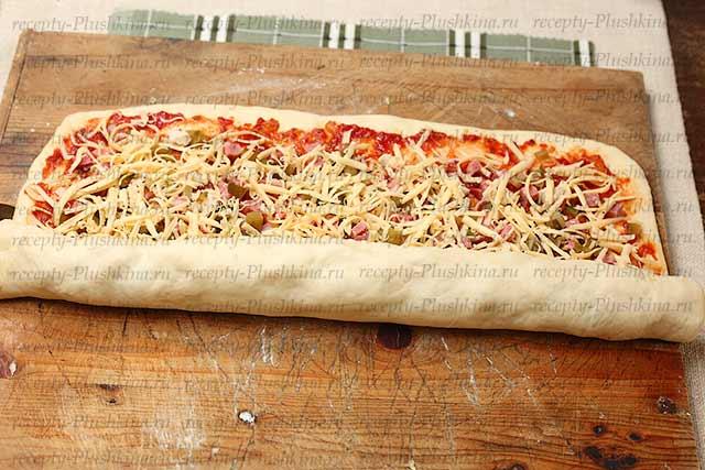 свернул лист пиццы