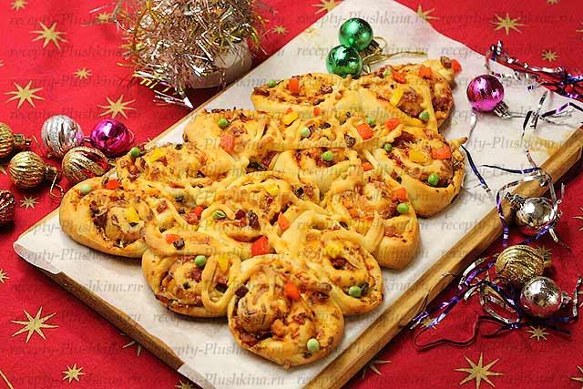 новогодняя пицца рецепт