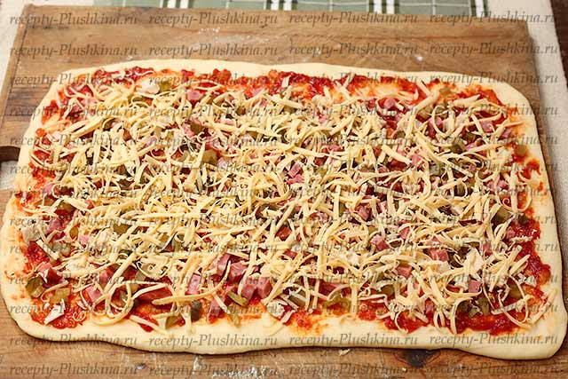 натер сыр для пиццы