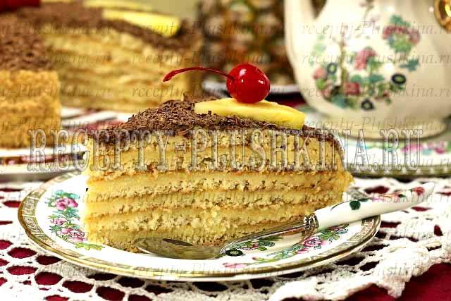 песочный торт с заварным кремом в домашних условиях