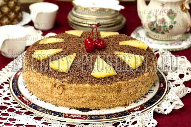 рецепт песочного торта с заварным кремом