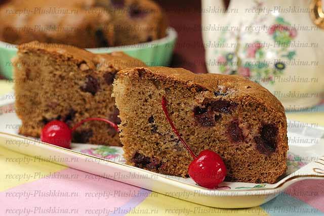 рецепт простого пирога с вишней