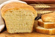 Пшеничный заварной хлеб в духовке