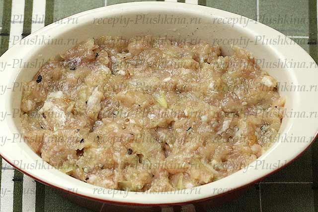 фарш на картошке