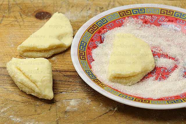 Печенье из творога треугольники пошаговый рецепт с