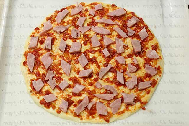 пицца домашняя рецепт гавайский
