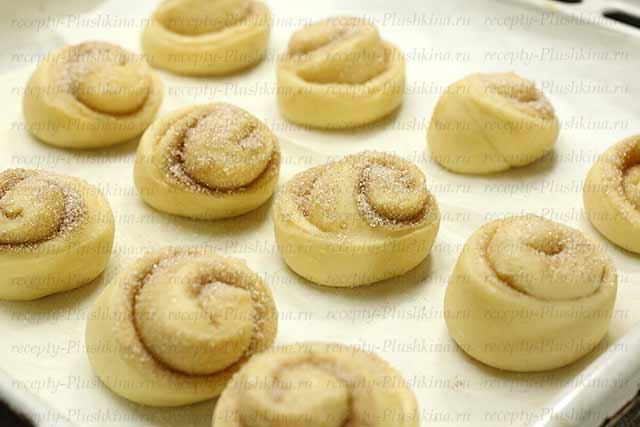 как приготовить булочки с корицей и сахаром