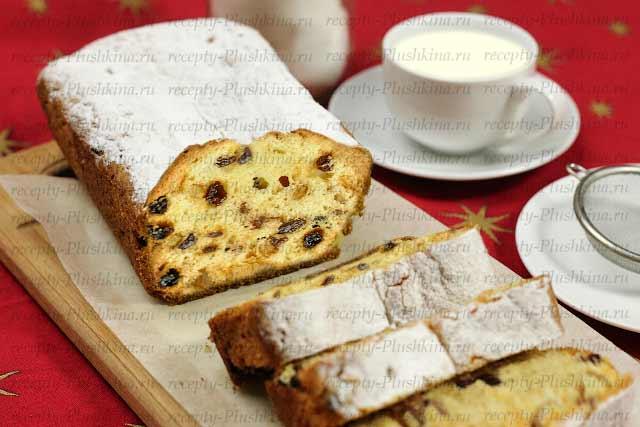 Рецепт кекса столичный с изюмом в духовке
