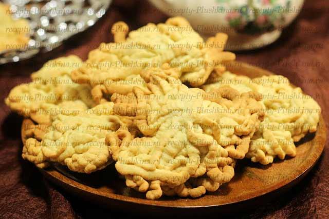 рецепт печенья Хризантема через мясорубку