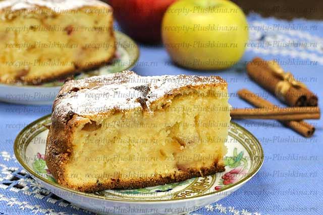 шарлотка с яблоками рецепт на кефире