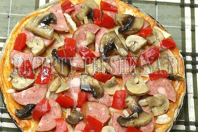 рецепт пиццы на кефире без дрожжей