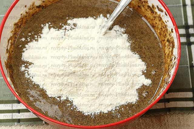 пирог из кефира и варенья