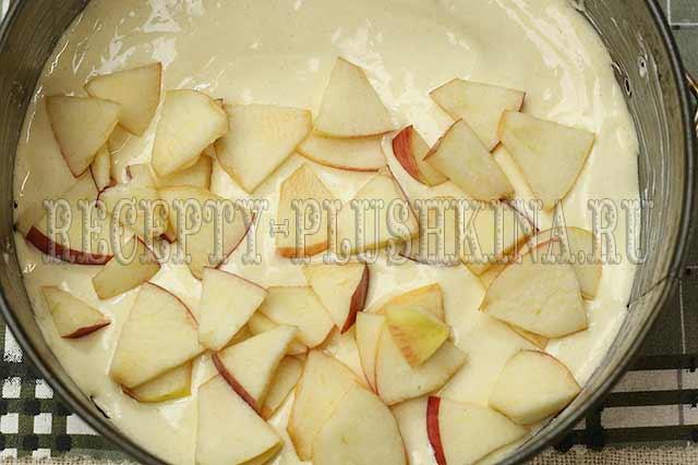пышная шарлотка с яблоками в духовке приготовление