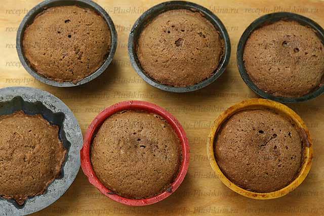 шоколадные кексы в формочках
