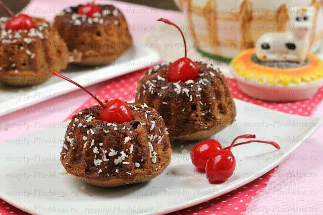 рецепт шоколадных кексов в формочках