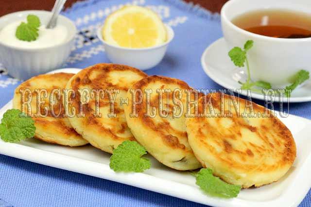рецепт сырников из творога с изюмом