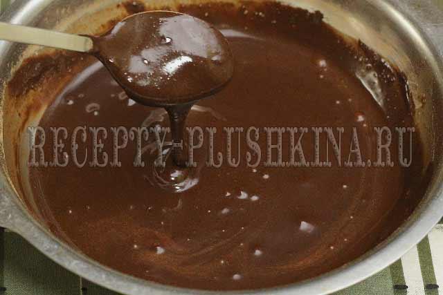шоколадная глазурь для вафельного торта