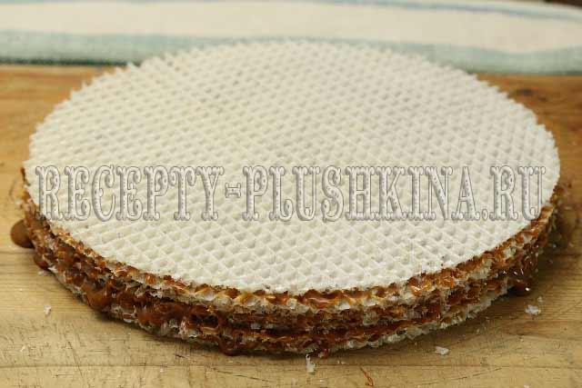 рецепт вафельного торта