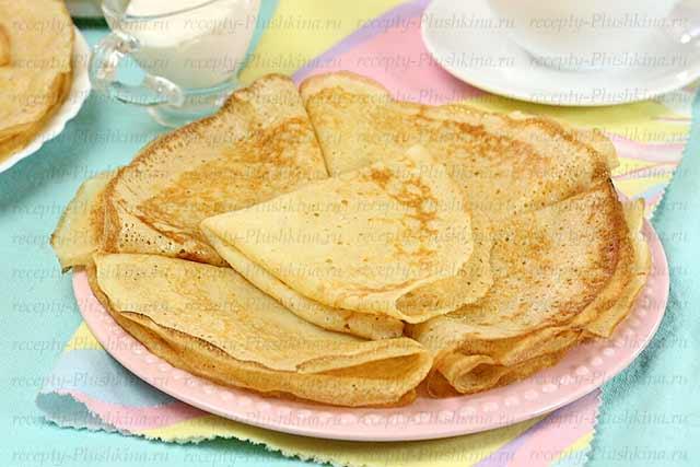 рецепт блинов с кипятком на молоке классический