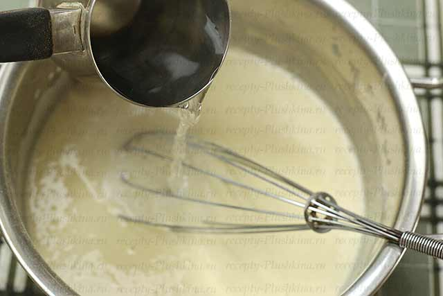 заварное тесто для блинов на молоке и кипятке с дырочками