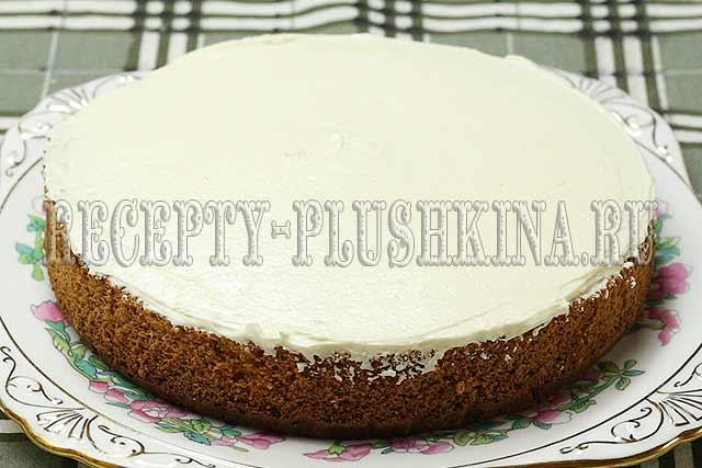 приготовление простого бисквитного торта