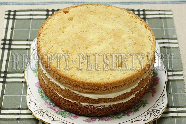 сборка бисквитного торта