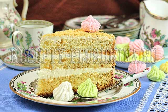 бисквитный торт очень вкусный и простой