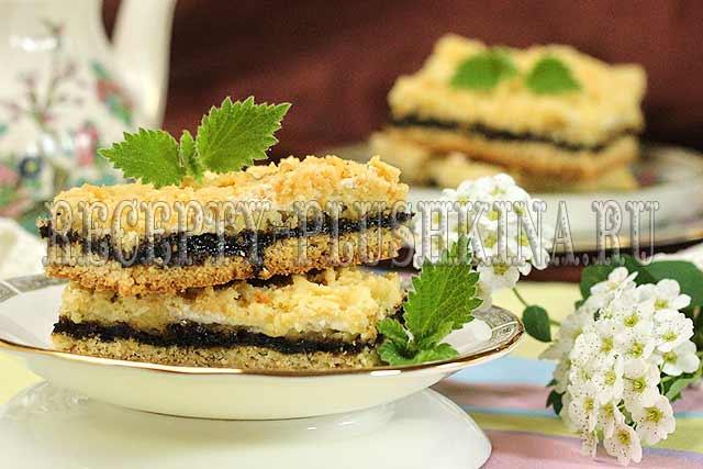 печенье с вареньем и тертым тестом