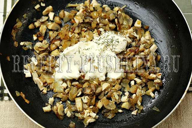 начинка из курицы и грибов