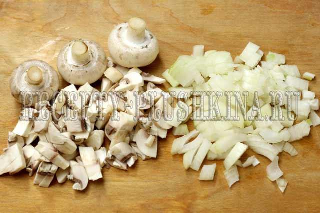 блинные мешочки с начинкой из курицы и грибов