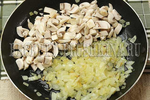 мешочки из блинов с курицей и грибами приготовление