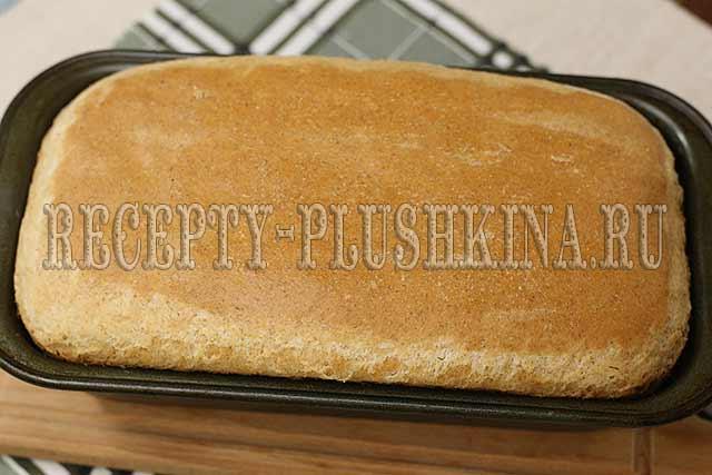 рецепт хлеба из цельнозерновой муки