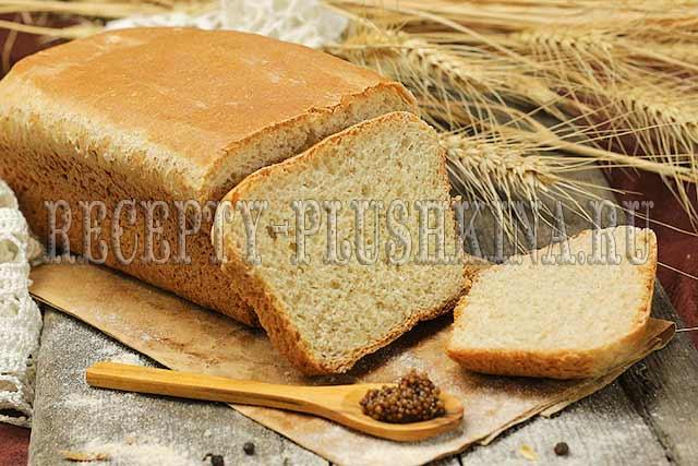 рецепт хлеба из цельнозерновой муки в духовке