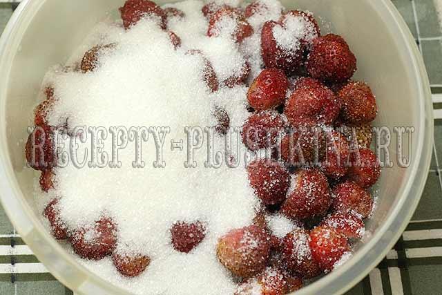 клубника с сахаром