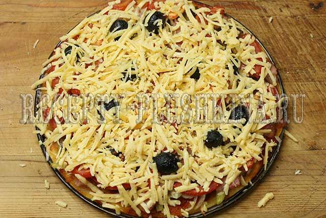 пицца на кефире рецепт в духовке