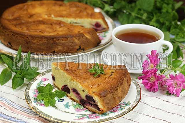 рецепт пирога с черешней