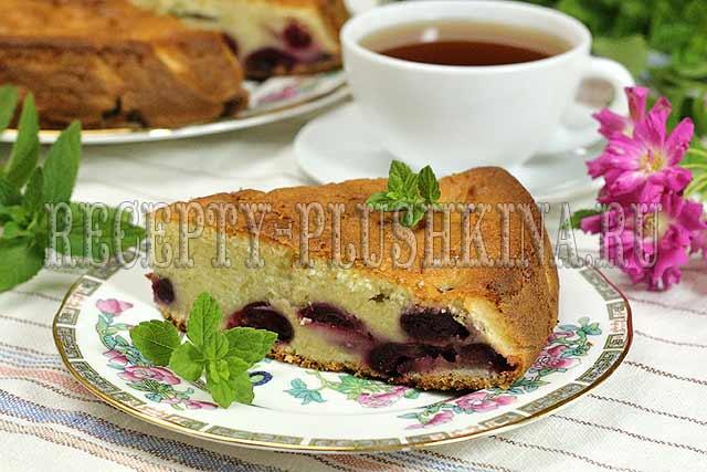 пирог с черешней рецепт