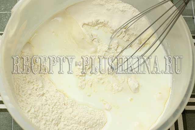 тесто для пирога с черешней на кефире
