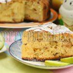 шарлотка с яблоками и творогом рецепт