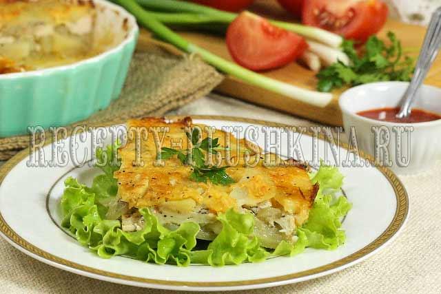 запеканка с курицей и картошкой в духовке