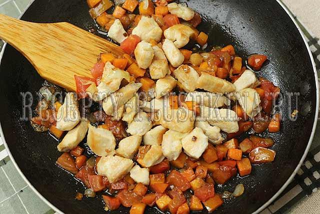 курица с гречкой в духовке пошаговый рецепт с фото