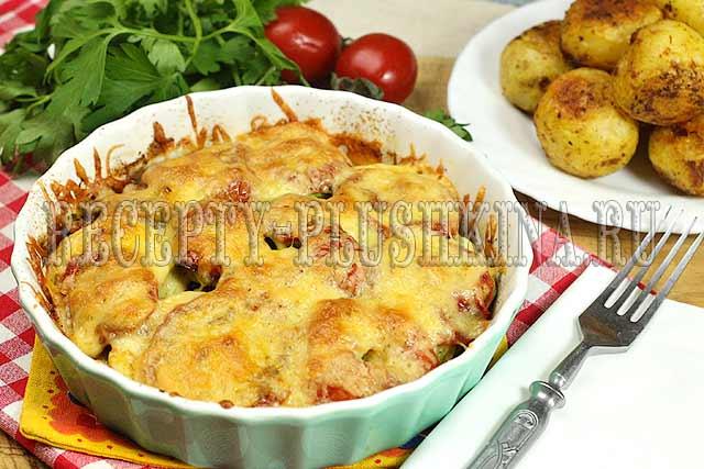 рецепт приготовления кабачков в духовке с овощами