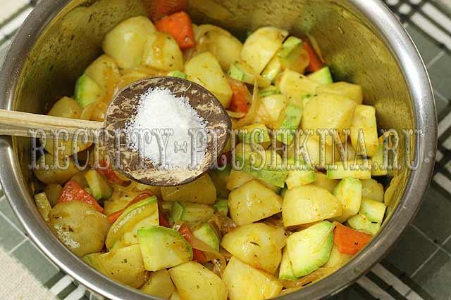 овощное рагу из кабачков с картошкой