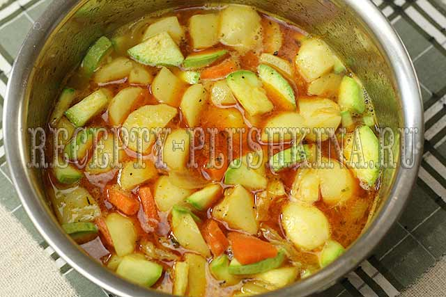 рагу из картофеля с кабачками