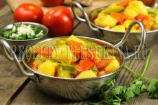 Овощное рагу из кабачков и картошки