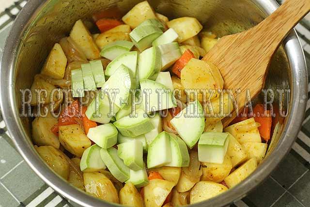 рагу из картофеля и кабачков
